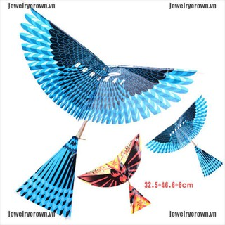 [Crown]Rubber Band Power Handmade Birds Models Science Kite Toys Kids Assembly Gift [VN]