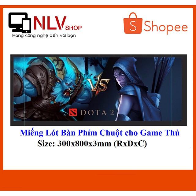 ?Deal Hot? Miếng Lót Bàn Phím Chuột DoTa 2 Cho Game Thủ S6-02( 300x800x3mm)
