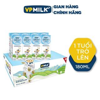 Sữa Tiệt Trùng VPMilk Grow+ Hộp 180ml, Sữa VPMilk Grow+ Có Đường, Sữa Uống Dinh Dưỡng