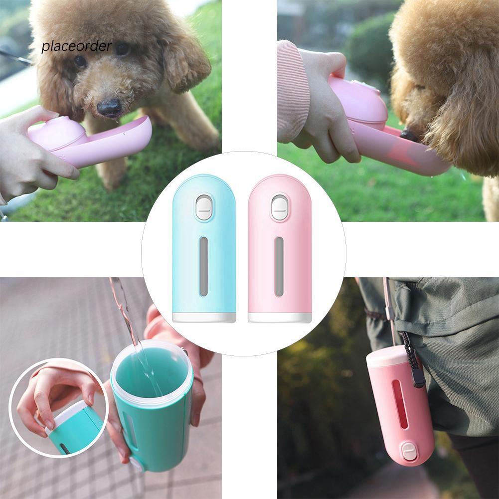 PEOD_Dog Outdoor Walking Water Bottle Bowl Dispenser Portable Pet Travel Drink Cup