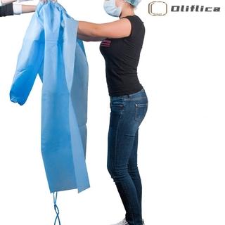 Mới Set 10 Áo Bảo Hộ Cách Ly Bằng Vải Không Dệt Dùng Một Lần