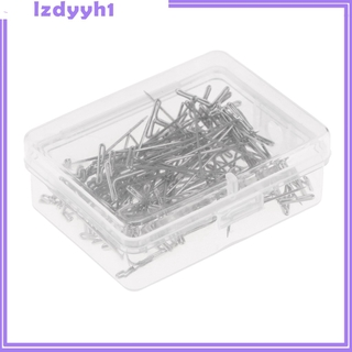 JoyDIY 100Pcs One Pack Metal 38mm T Pins For Modelling Macrame Wigs Sewing Craft