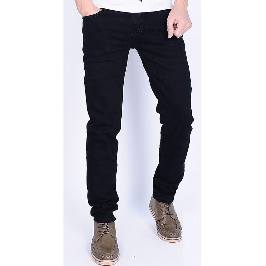 Quần Jeans Nam Co dãn Mầu Đen Trơn,vải jeans thoáng mát,không bai xù