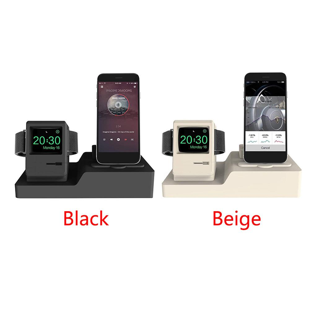 3 In 1 Base Professional Home Charging Dock Anti Slip Durable Desk Mount Phone Holder Stable Silicone Multifunction For Iphone Mobile Phone Accessories