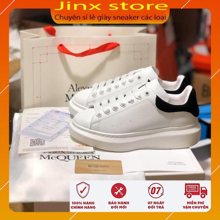 Giày thể thao MCQ gót nhung đen dây lụa 1.1 -  Jinxstore