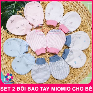 SET 2 Đôi Bao Tay MioMio Cotton Cho Bé Sơ Sinh – Mio Việt Nam