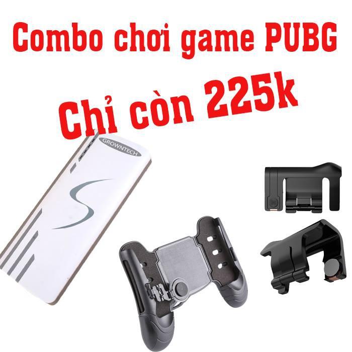Combo chơi game PUBG mobile gồm Tay cầm game TG-53 + Bộ nút C9 + Pin sạc dự phòng chữ S 20000mAh