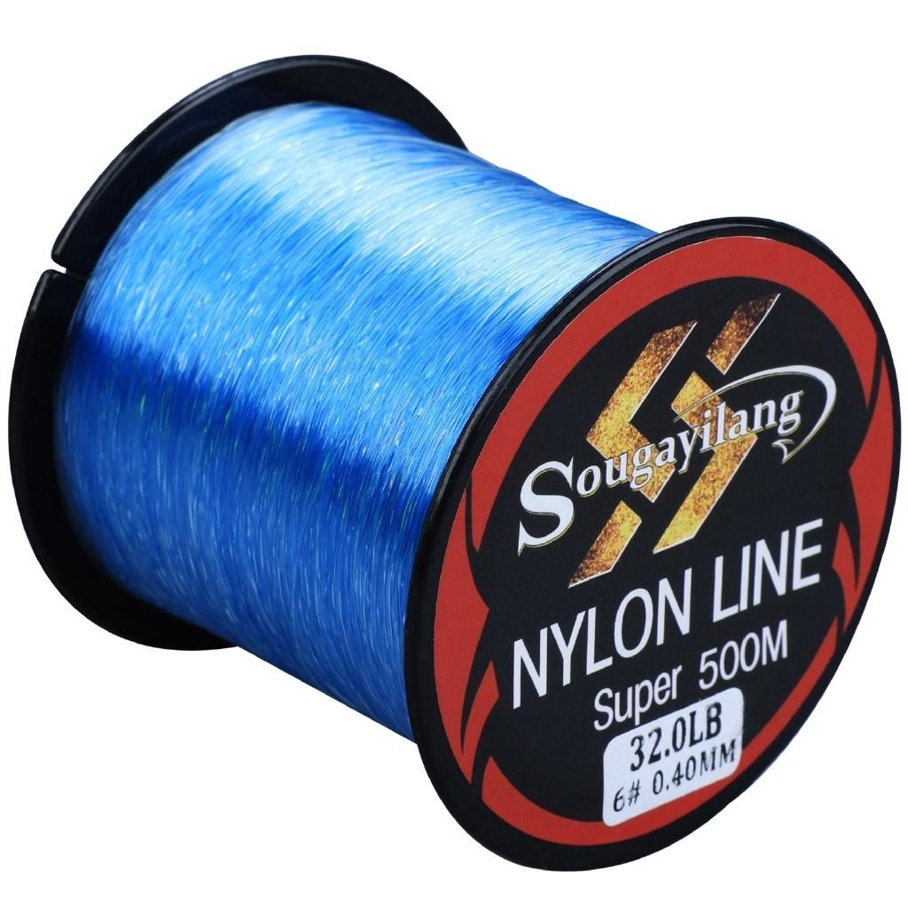 Cuộn dây câu cá Sougayilang sợi nylon nhỏ mịn 11-36.3lb 500M tiện lợi
