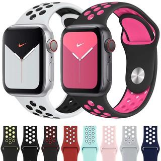 Dây đeo Apple Watch Strap 38/40mm 42/44mm Dây đeo thể thao silicon mềm thoáng khí cho iWatch Series SE 6/5/4/3/2/1