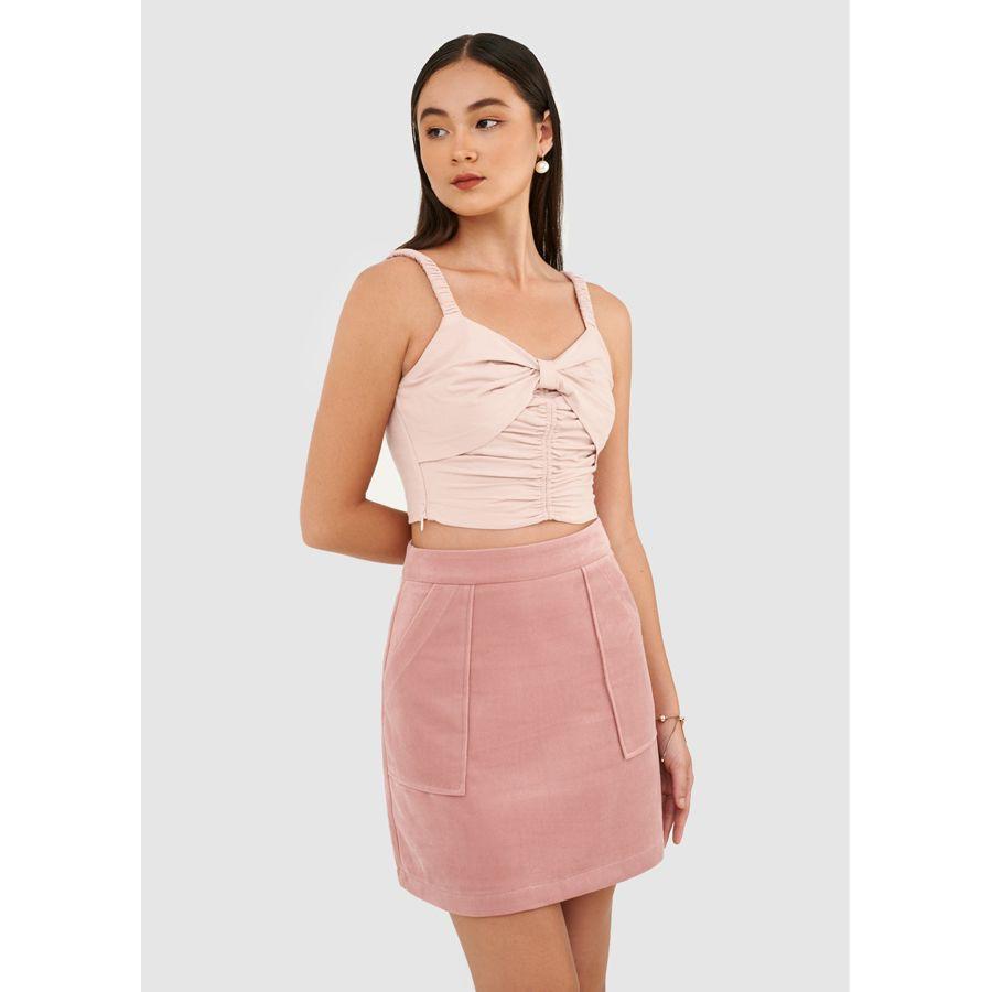 Váy mini đắp túi nhung - MARC FASHION