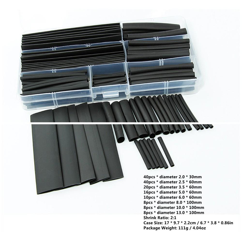 ống gen co nhiệt cách điện màu đen 150 pcs