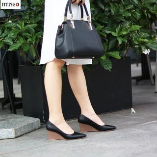 Gia y đe xuo ng nu - giày công sở HT.NEO (7) kiểu dáng mũi nhọn sang chảnh tăng chều cao,siêu, đế xuồng 7 phân CS69 thumbnail