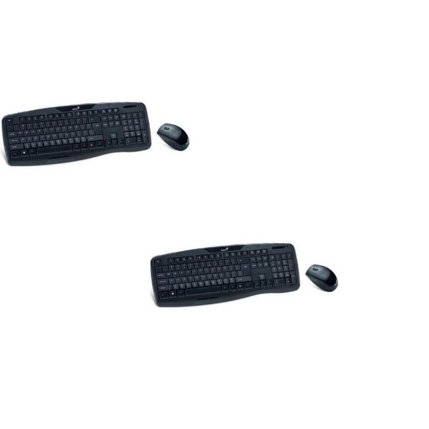 Bộ 2 Bộ bàn phím + Chuột không dây Genius kb 8000X