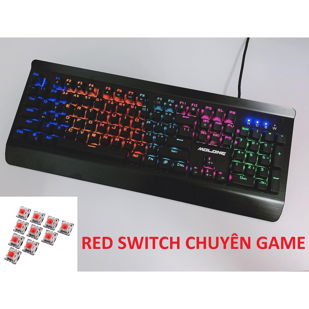 Bàn phím cơ chuyên game King Molong K890 (RED SWITCH & BLUE SWITCH) Giá chỉ 389.000₫