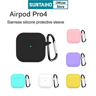 Suntaiho New Candy color Silicone Case For AirPods Pro 4 Wireless Bluetooth Earphone mini pro4 thumbnail