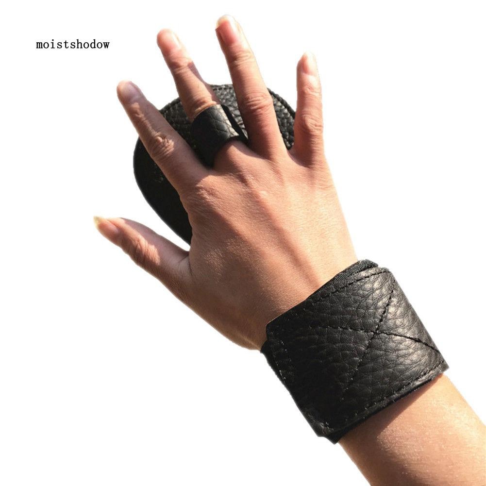 MISD Faux Leather Fitness Glove Weight Lifting Workout Wrist Wrap Gym Sports Training
