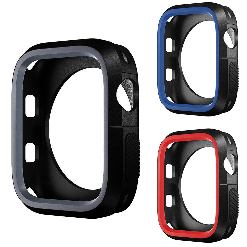 Slim Shockproof Sports Style Easy Apply Watch Case Flexible Durable Cover Soft Silicone Universal For Iwatch 1/2/3/4