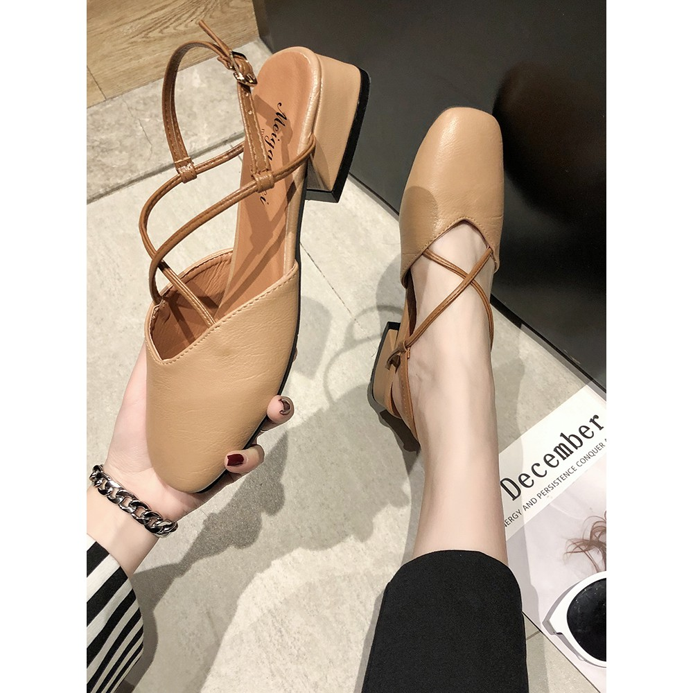 2019 summer new social fashion wild shoes women's shoes with