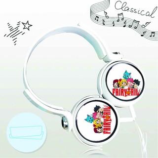 Tai nghe chụp Fairy Tail Hội Pháp Sư thiết kế thông minh cá tính cắm dây có mic anime chibi