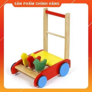 xe tập đi gỗ 3 con gà an an kids cho bé
