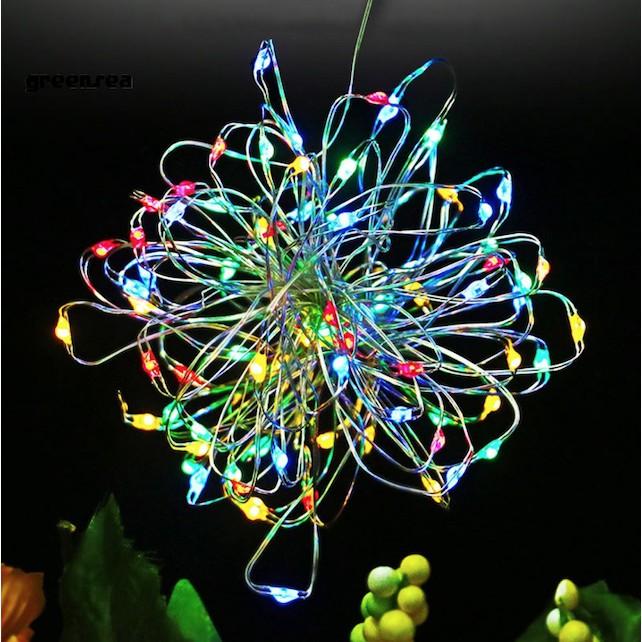 10M Dây đèn trang trí năng lượng mặt trời / đèn led dây đồng chớp nháy chống thấm nước trang trí sân vườn, giáng sinh