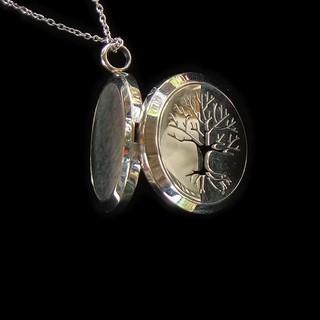 [Chính Hãng giá Xưởng]3*3*1.6cm Mặt dây chuyền lồng gắn ảnh Titanium (thép không gỉ) hình rãnh cây , + dây 60cm