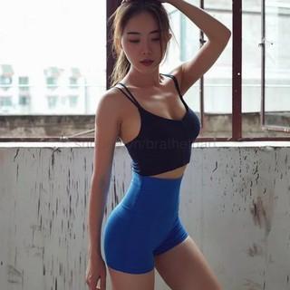 Quần tập gym nữ (quần đùi nữ) cạp cao – 3 màu (HÀNG LOẠI 1)