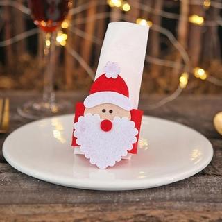 4 Pieces For Sale Christmas Decorations Three-Dimensional Scene Non-Woven Hotel Napkin Napkin A3V1
