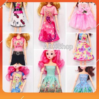 Váy Búp Bê Barbie Thời Trang 2020 in Hoạ Tiết Công Chúa adhshop