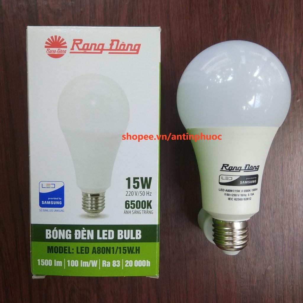 Bóng đèn led Rạng Đông 15w - LED tròn Rạng Đông 15w tiết kiệm điện .