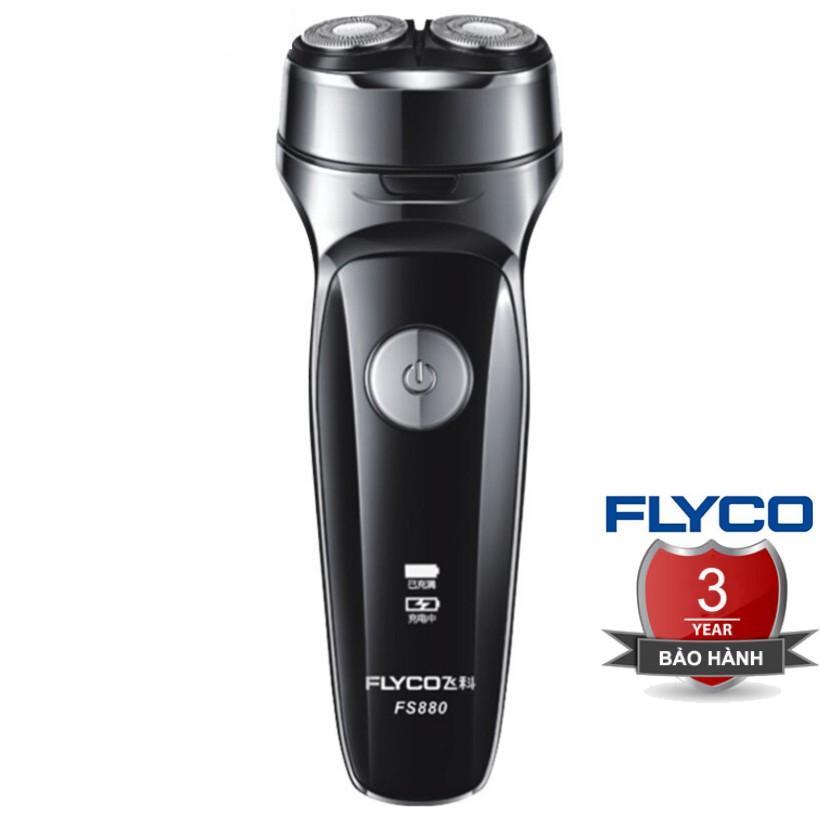 [TEM FLYCO] Máy Cạo Râu Nam FS879 Flyco 2 Lưỡi Dao Thông Minh II BH 36 Tháng (Hỗ Trợ Tỉa Bấm Tông Đơ Cắt Tóc Mai) FS880