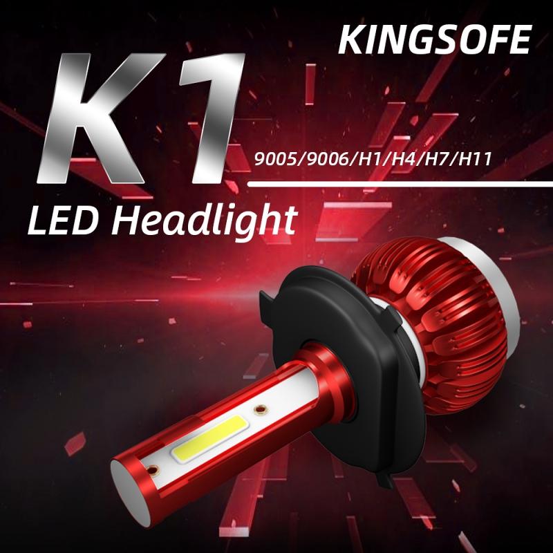 H4 H1 H7 H11 Car LED Headlight Bulb Kit COB LED 9000LM 36W 6000K High Brightness