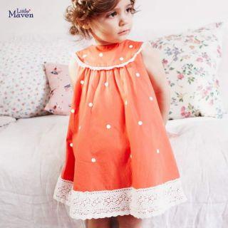 Váy little.maven chấm bi dành cho bé gái váy hè bé gái