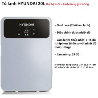 Tủ lạnh 20L Huyndai có màn hình LCD điều chỉnh nhiệt độ – King's Garden