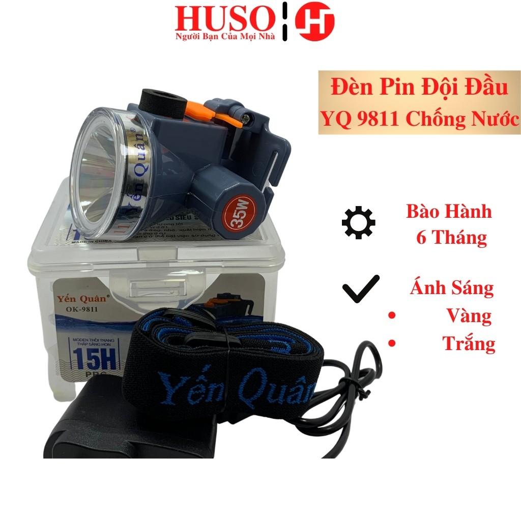 Đèn Pin Đội Đầu - Yến Quân 9811 - Đèn Pin Treo Đầu Chống Nước Nhỏ Gọn Pin  Trâu - HUSO - Đèn & Đèn Pin