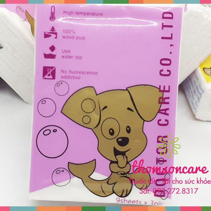 Giấy ăn bỏ túi Doctor Care 3 lớp siêu dai - khăn giấy bỏ túi - Không hóa chất tẩy trắng