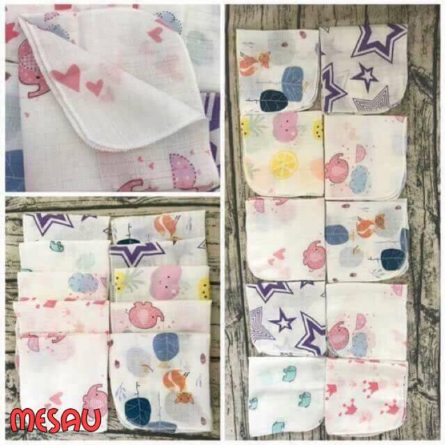Set 10 khăn xô Aden ( túi lưới)
