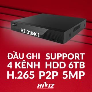 Đầu ghi hình Hiviz - HZ-3104C1 4 kênh 5MP, hỗ trợ camera Analog TVI CVI AHD IP - Chính hãng MAI HOÀNG thumbnail
