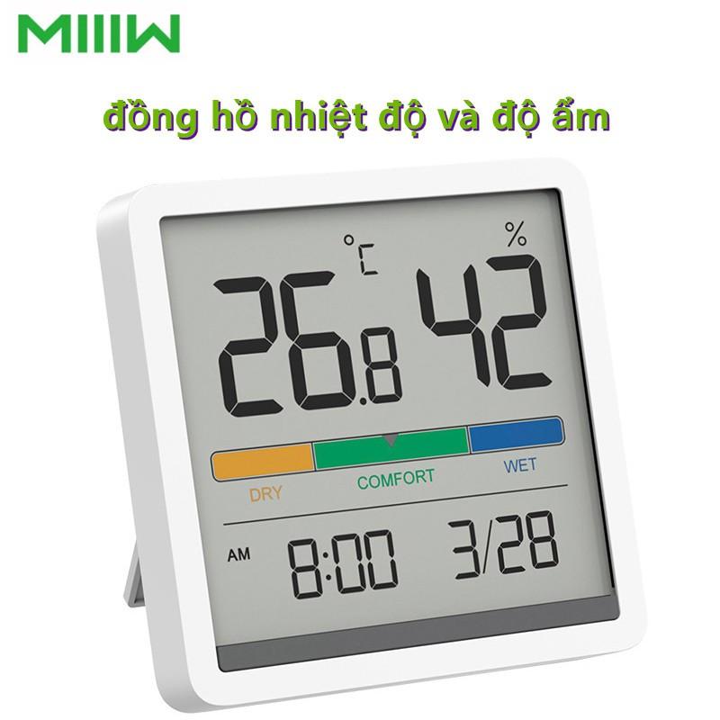 Đồng hồ Xiaomi, nhiệt ẩm kế MIIIW NK5253, màn hình lớn LCD 3.34 inch