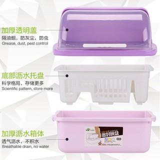 ♧♧♧Hộp nhựa đựng bát đĩa ráo nước có nắp đậy tiện dụng cho nhà bếp