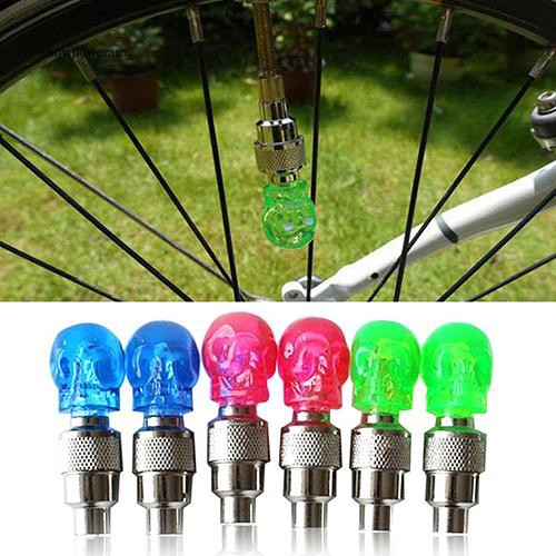 WAS_Neon LED Lamp Flash Tyre Wheel Valve Cap Light for Bike Bicycle