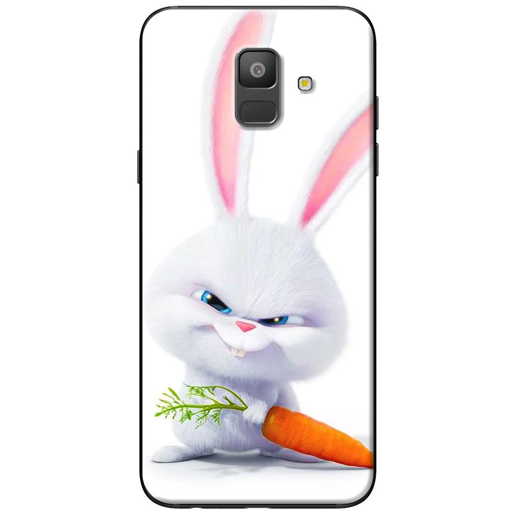 Ốp lưng nhựa dẻo Samsung A6 2018, A6 Plus Thỏ carot