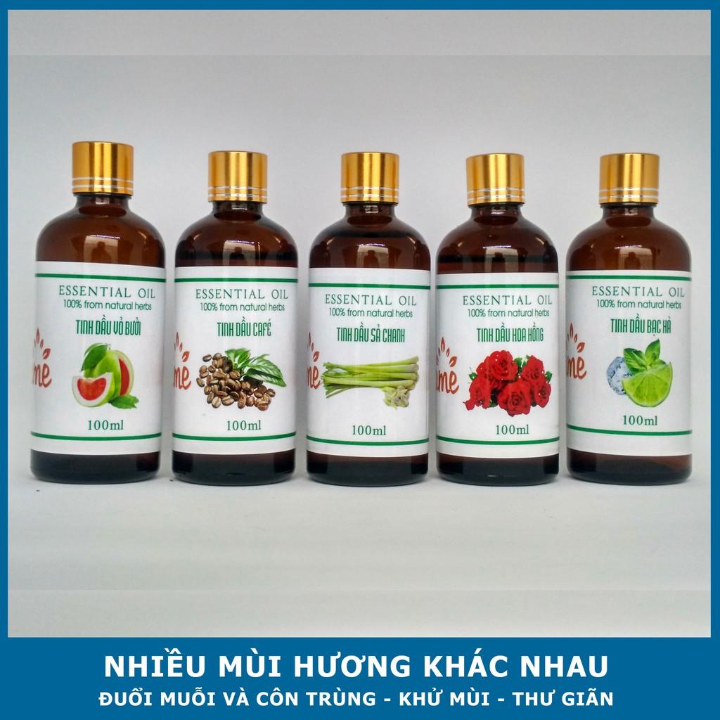 Tinh Dầu Thiên Nhiên Nguyên Chất Lọ 100ml - Tinh dầu thơm phòng đuổi muỗi hiệu quả