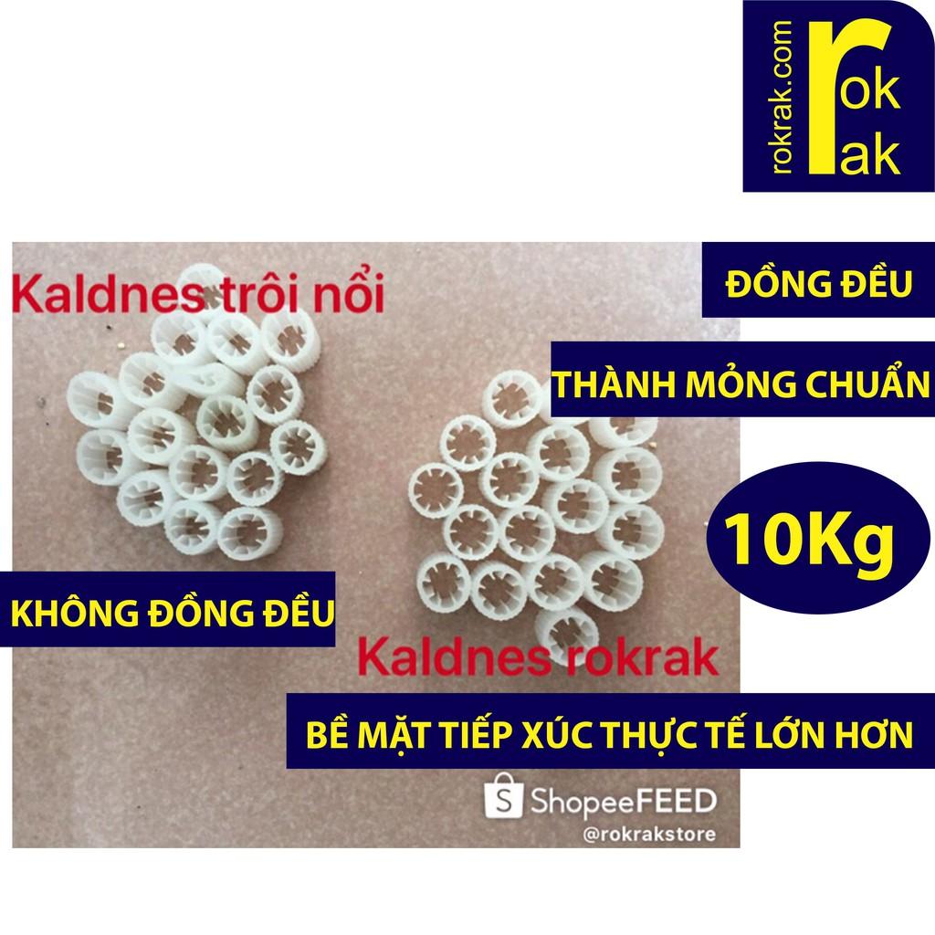 Kaldnes micro Hạt lọc kanet vi sinh Bao 10Kg cho hồ cá
