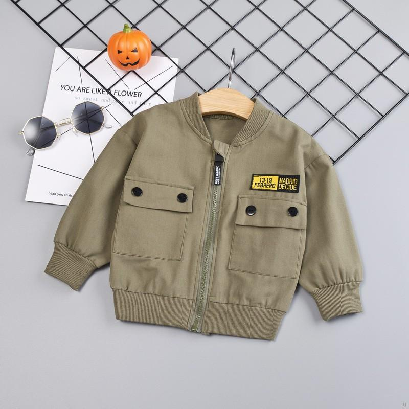 Áo khoác khoá kéo hoạ tiết hoạt hình đáng yêu cho bé