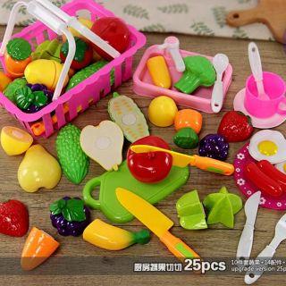 Đồ chơi cắt hoa quả 25 món (sẵn hàng)