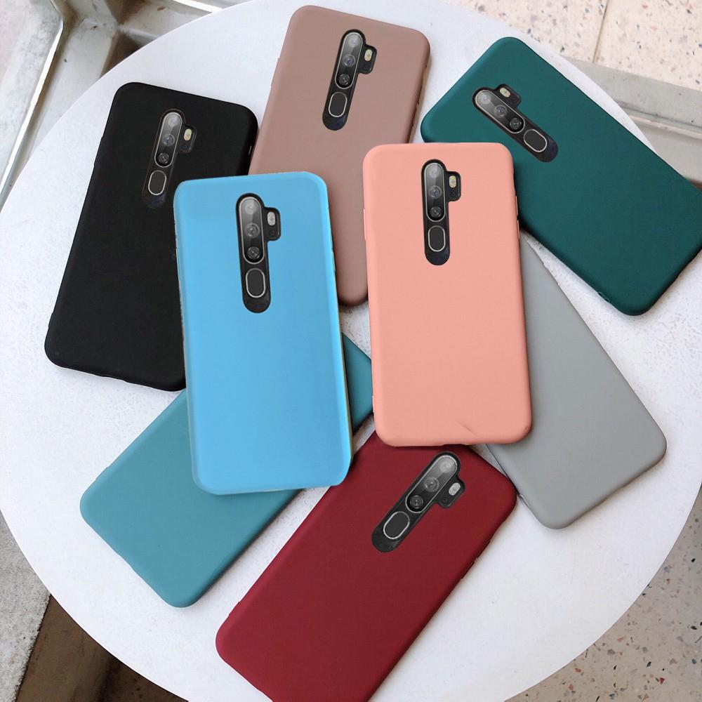 Ốp điện thoại TPU mềm màu sắc kẹo ngọt cho OPPO A5 2020 A9 2020 A31 2020 A91 Reno 3 Pro Reno 2 2F