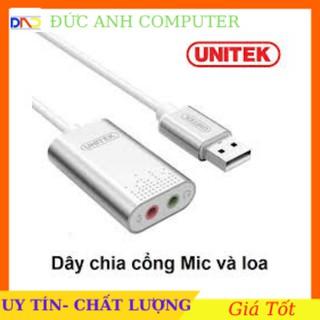Sound USB - Chuyển cổng USB ra cổng (sound) âm thanh chính hãng UNITEK Y- 247A- Bảo Hành 12 Tháng - 1 Đổi 1