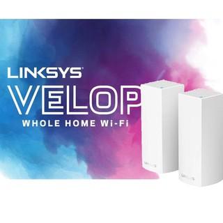 Bộ phát Wifi Linksys Velop WHW0302 Mesh 3 băng tần 2-Pack AC4400Mbps MU-MIMO (Hàng chính Hãng)