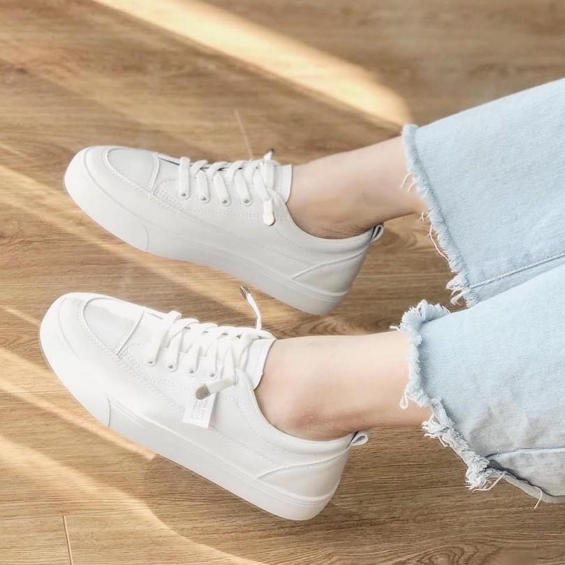 (ẢNH THẬT) Giày thể thao nữ học sinh đế dẻo dây rút hàng hot trend